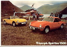 Triumph Spitfire - Mayfair Cards of London