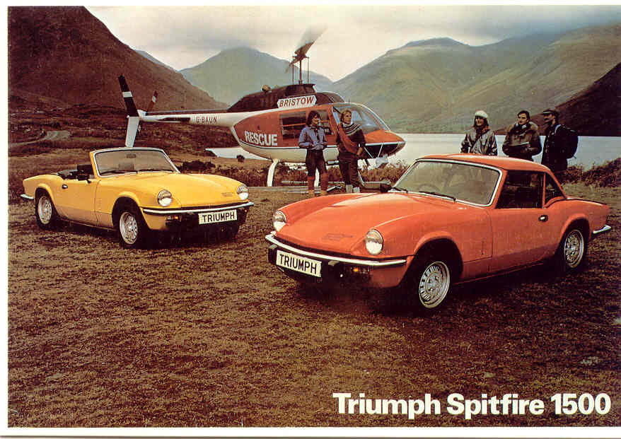 Triumph Spitfire - Postcard (Mayfair Cards of London)!